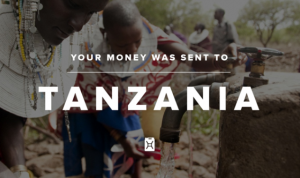 Header graphic from charity: water email update. (c) charity: water.