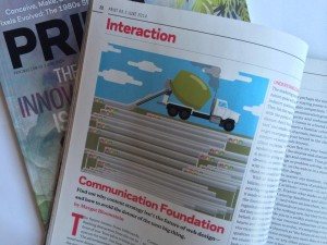"""Communication Foundation"" in Print magazine, June 2014; illustration by James Walton"