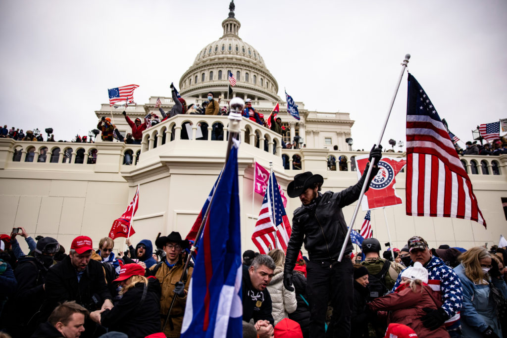 Rioters attack Capitol in Washington DC January 6, 2021